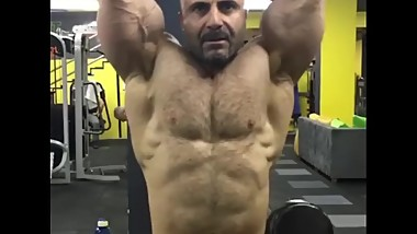Turkish mature bodybuilder poses