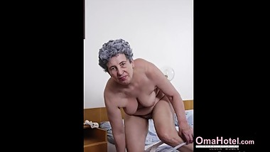 OmaHoteL Well Aged Hairy Lady Pictures Compilation