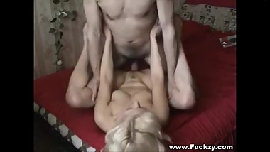 Mature Blond Slutwife Two-Times Her Hubby With Fuckbuddy
