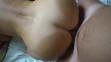 Doggystyle fucking, cumblast on body and ass