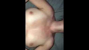 Step son fucks his mom making her tits bounce