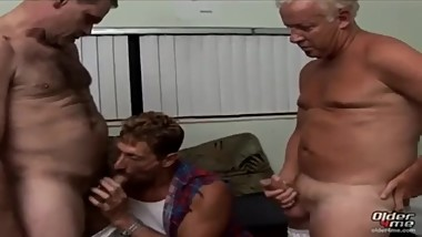 Hot daddy threesome