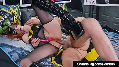 Cosplay Cougar Shanda Fay Gets Ass Fucked As Horny BatGirl!