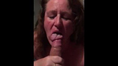 Mature sucks young cock