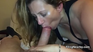 Local Bumble Milf Deepthroating My Cock