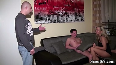 German Husband caught Wife with Young Boy and Join Fuck