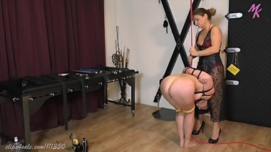 Mature mistress and slave.