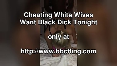 Hot Blonde Wife Struggling To Take This BBC