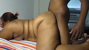 HORNY BIG BUTT BBW MS FOUNTAIN GETS POUNDED UNTIL SHE MAKES HIM SHOOT