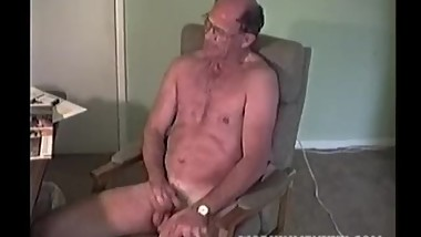 Mature Amateur Richard Jerking Off
