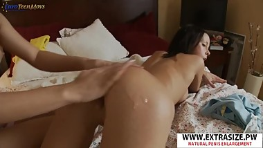 Great Stepmom Catherine, Betsy Fucks Hard Her Step-son