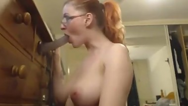 deepthroat training herself like a good mature slut