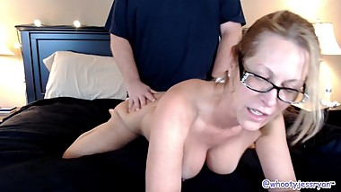 Hubby Dumps Load Of Cum On My Ass DoggyStyle