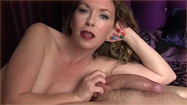 Ball Tease & 1 Finger Cum Shot  Mistress T
