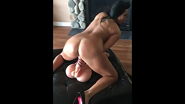 Riding Dildo Hard part 3