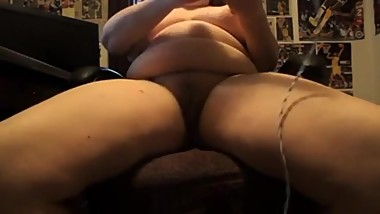 Bbw mature dildo fucks both holes and cums hard with vibrator