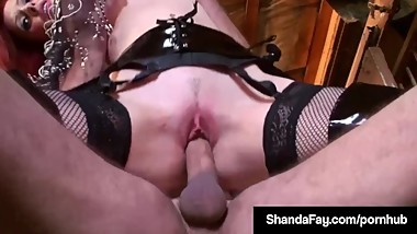 Canadian Cougar Shanda Fay Cowgirls A Hard Cock Till It Cums