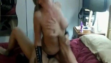 Sexy Big Titted Blonde Wife and Hubby Visiting Stranger