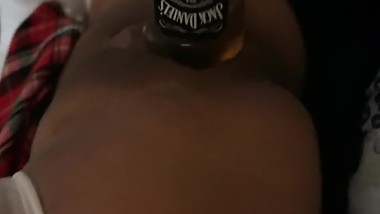 video of my Mom fucking a whisky bottle