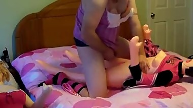 Sissy Prematurely Ejaculating With Blowup Doll
