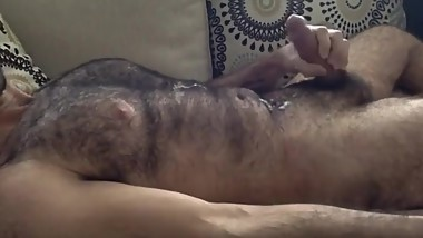 Handsome Hairy Bear Handjob