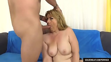 Older Slut Penny Sue Takes a Cock in Her Cunt and Cum in Her Mouth