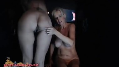 Stunning mature Milfs sucking cocks at gloryholes and fucking