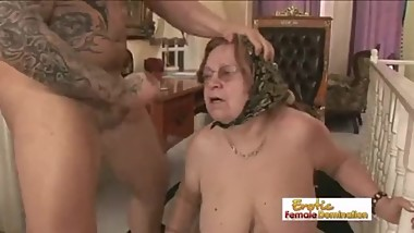 white Males LOVE FUCKING Old Grandma Pussy Part-1-HD