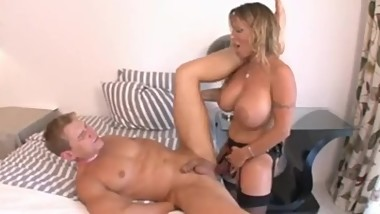 Holly Halston strap on her step son