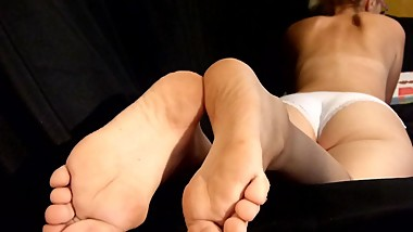 footjob. handjob and cum in my soles