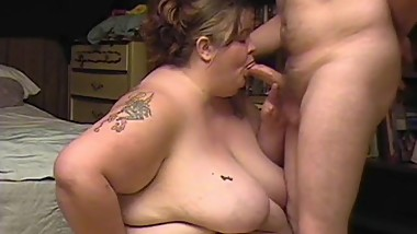 Mature SSBBW Blowjob