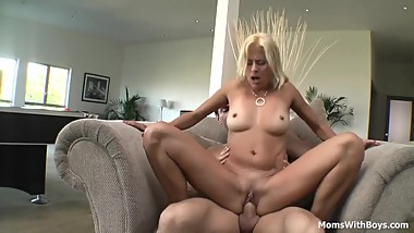 Horny Mom Pussy Pierced Blows And Fucks Cock
