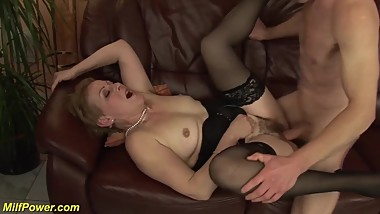 hairy stepmoms first massive facial