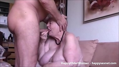 Having fun with my old aunt. Amateur older