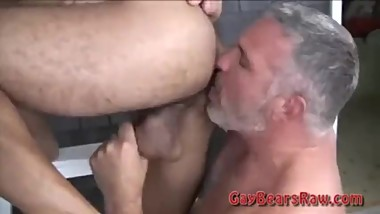 Bearish daddy mature type rim and bareback