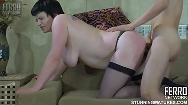 Guy Fucks Russian Mature aunt in stockings 54