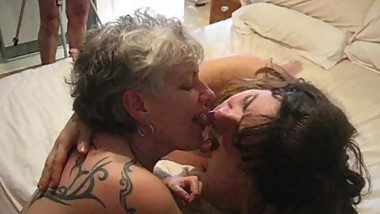 Liz - busy kissing Ann