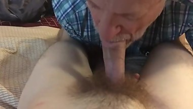 MATURE BLOWS BUSHY COCK
