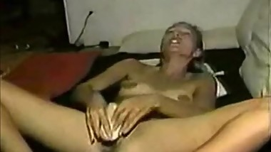 Solo orgasm of my kinky wife