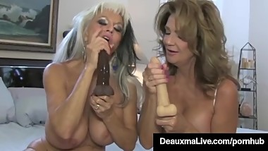 Texas Cougar Deauxma Watches As Sally D'Angelo Bangs Hubby!