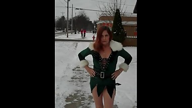Redhot Redhead Show 12-08-2017 Pt. 2 (Caught in Public Showing Pussy & Ass)