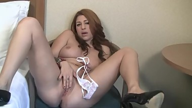 Latina Masturbating & Stuffing Pussy - Home Made Porn - Panty Stuffing