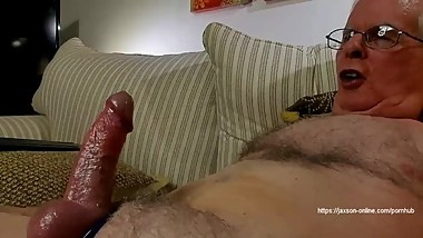 Fucked by a big dildo, ass to mouth and cum