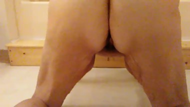 Doggy style pee on the bathroom floor