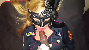 milf in uniform loves bbc cum