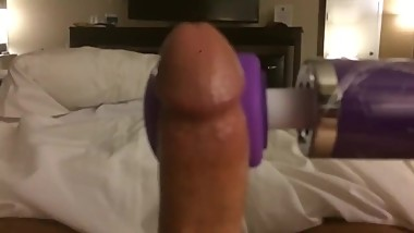 Four cumshots from edging my cock with a vibrator