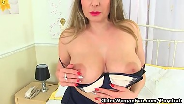 English milf Sophia Delane shares her heavenly body