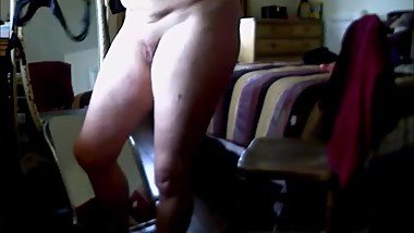 Hidden cam caught my mom masturbating at computer