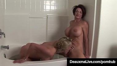 Texas Mommy Deauxma Licks Some Pussy With Lesbo Tanya Tate!