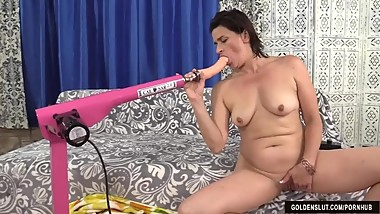 Mature Tart Michele Marks Gets Her Pussy Reamed by a Machine